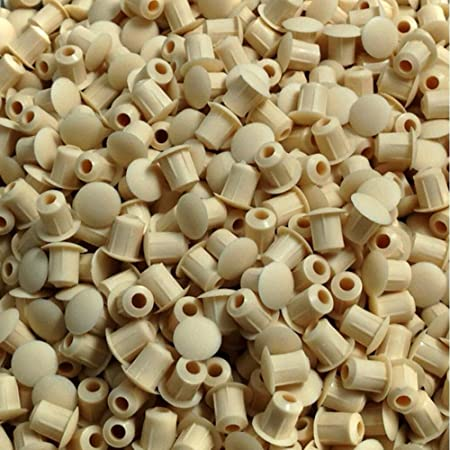 5mm HOLE COVER CAPS BEIGE BLANKING HOLE BUNG KITCHEN BEDROOM CABINET SHELF M5