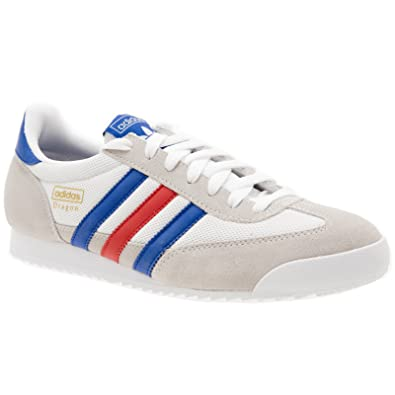 sports shoes d1a55 b3e61 Adidas Original Dragon White Grey Mens Trainers Size 8.5 UK Amazon.co.uk  Shoes  Bags