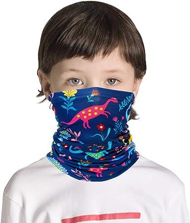 Kids Neck Gaiters Balaclava Bandanas Face Covering for Children Summer Neck Gaiter Color 5