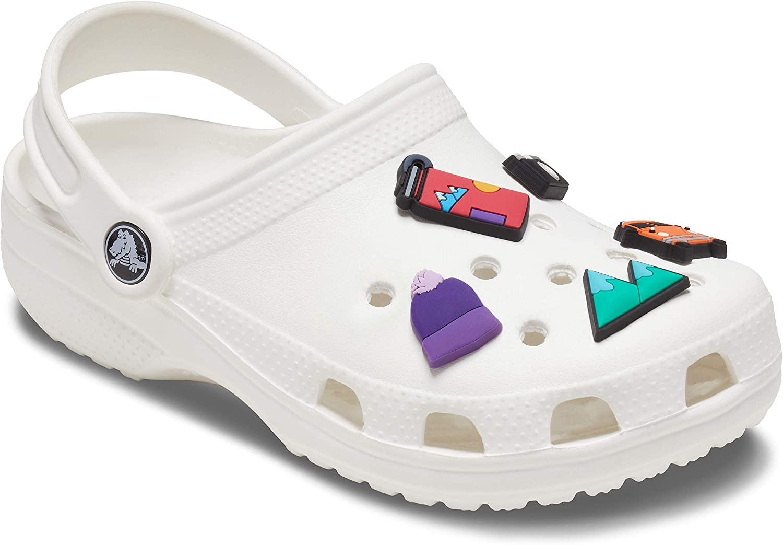 Crocs unisex-adult Jibbitz Shoe Charms Travel 5-Pack | Jibbitz for Crocs