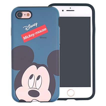 iPhone 6S / iPhone 6 Case, Disney Cute Mickey Mouse Layered Hybrid [TPU + PC] Bumper Cover [Shock Absorption] for iPhone6S / iPhone6 (4.7inch) - Face ...