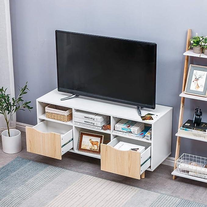 Mueble TV Salón Estilo Moderno Nórdico Mesa Televisión ...