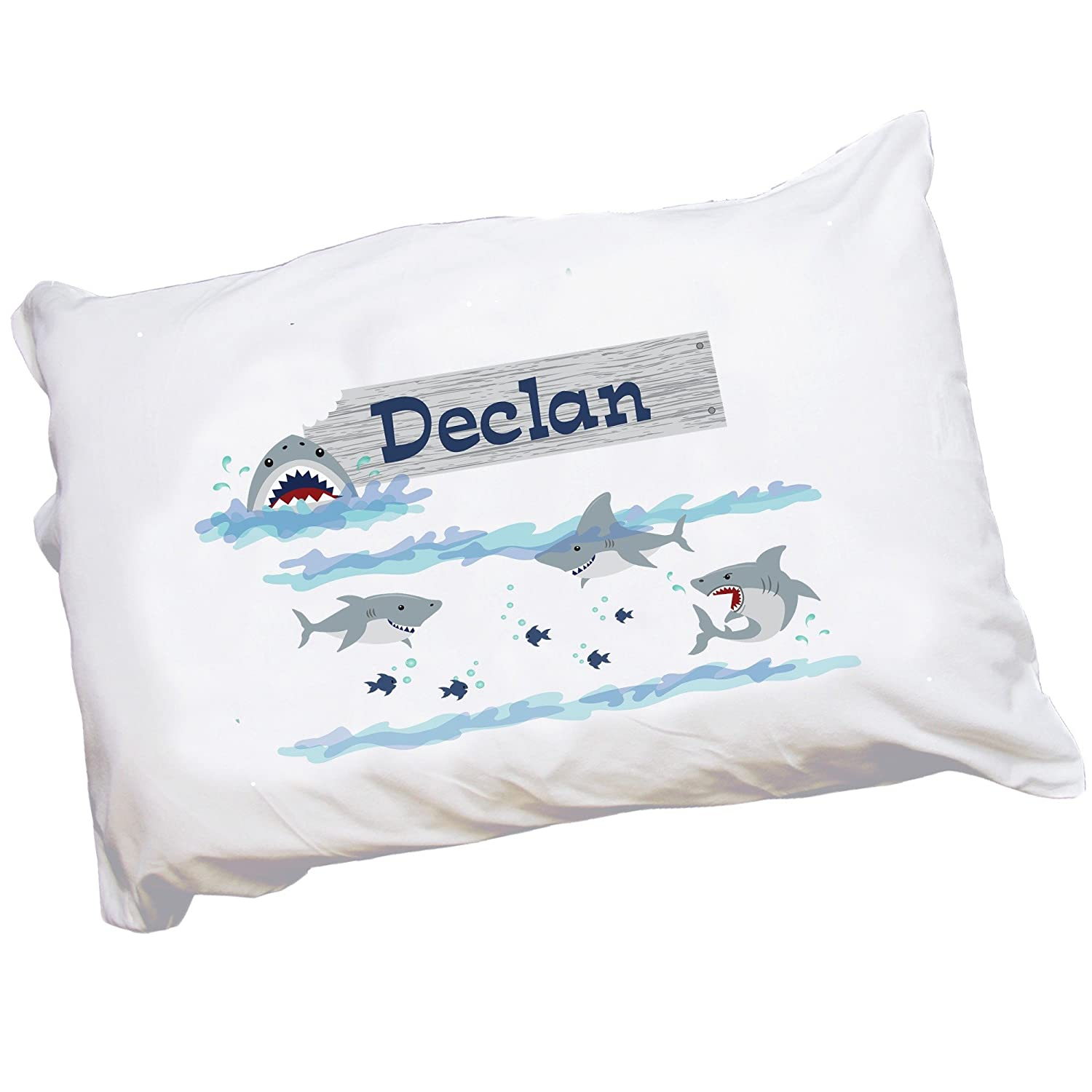 MyBambino Personalized Shark Tank Pillowcase for Toddlers