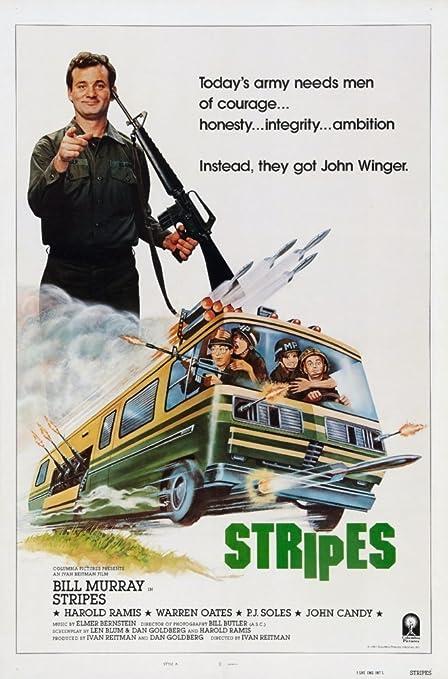 Bill Murray Harold Ramis Stripes Movie Poster 24x36 Inch Wall Art Print