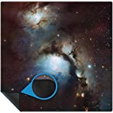 Space Terrain 3ftx3ft tabletop Gaming Mat in Rubber Mouse Mat Material with Stiched Edge in Carry Bag