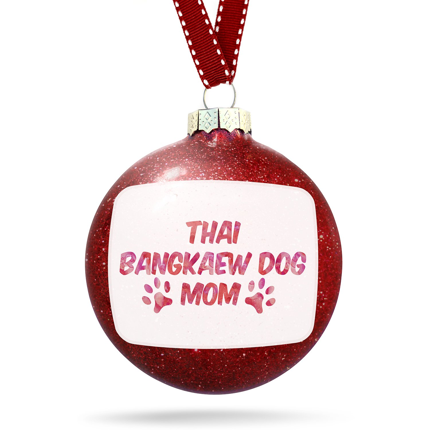 Christmas Decoration Dog & Cat Mom Thai Bangkaew Dog Ornament by NEONBLOND