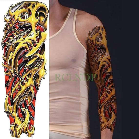 Tatuaje resistente al agua Aplique mecánico fresco Brazo completo ...