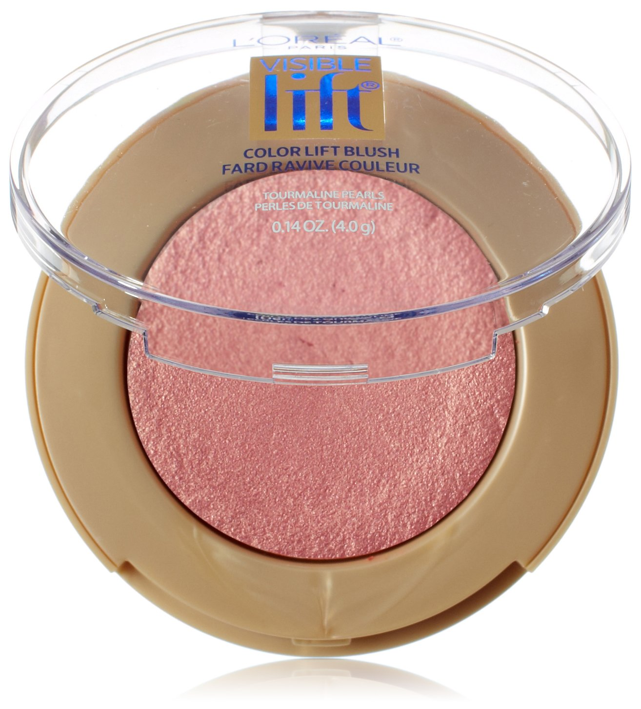 L'Oréal Paris Visible Lift Color Lift Blush, Rose Gold Lift, 0.14 oz.