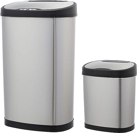 Amazon.com: AmazonBasics – Juego de papelera automática – 12 ...