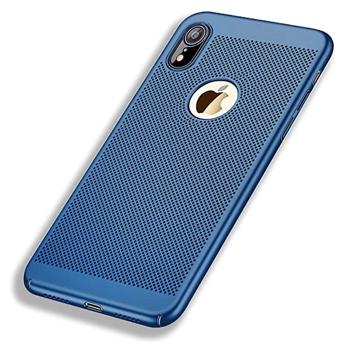 Funda iPhone XR, Ultra-Delgado Disipadores de Calor Carcasa Anti Caída Totalmente Protectora Caso de Plástico Duro Cover Case teléfono