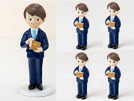 Momparler1870 Pack de 12 Imanes niño Comunión traje azul y ...