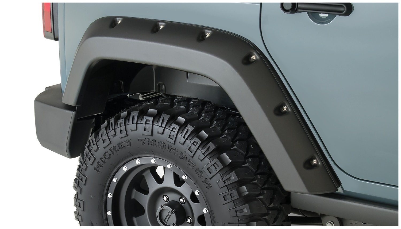 Bushwacker 10080 02 Pocket Style Rear Fender Flare For Jeep Wrangler Jk Sub Pair Automotive