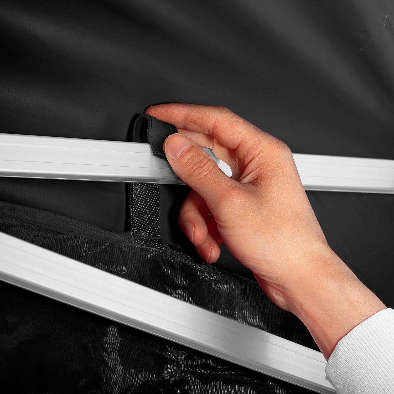 121a35e0d3c 403165 4 Paneles Laterales con Cuerdas Tensoras Plegable 100% Impermeable  Aluminio TecTake 800688 Carpa de Jardín ...