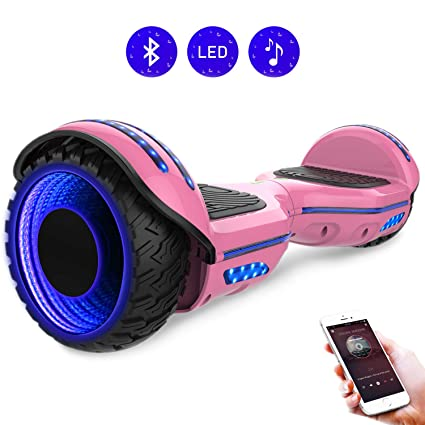 RCB 6.5 Pulgadas Auto Balance Scooter Eléctrico Hoverboard con Brillantes Ruedas Patinete con Bluetooth para Adolescentes