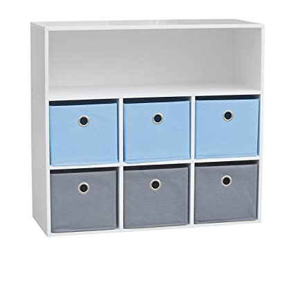 Urban Living – Mueble de almacenaje infantil, 6 cajas, para niño, 76 x