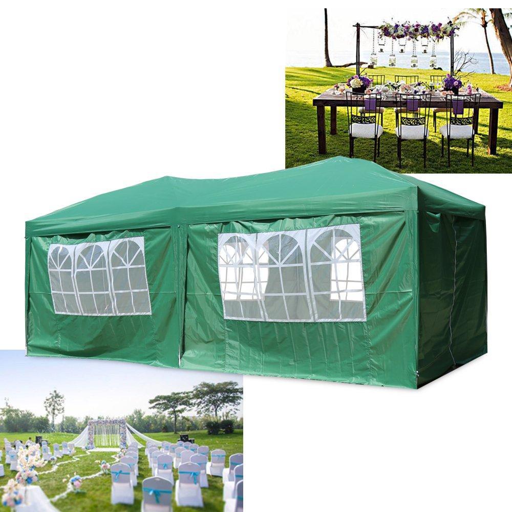 Cenador plegable de 3 x 6 m de HG® para jardín de PVC, plegable, impermeable, verde: Amazon.es: Jardín