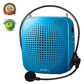 Amazon.com: shidu S511 altavoz con micrófono, sistema PA ...