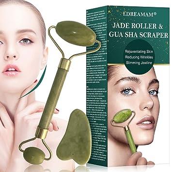 Jade Stone Massage Tool 2 Point Design for Anti-wrinkles Anti-aging Gua Sha Mass