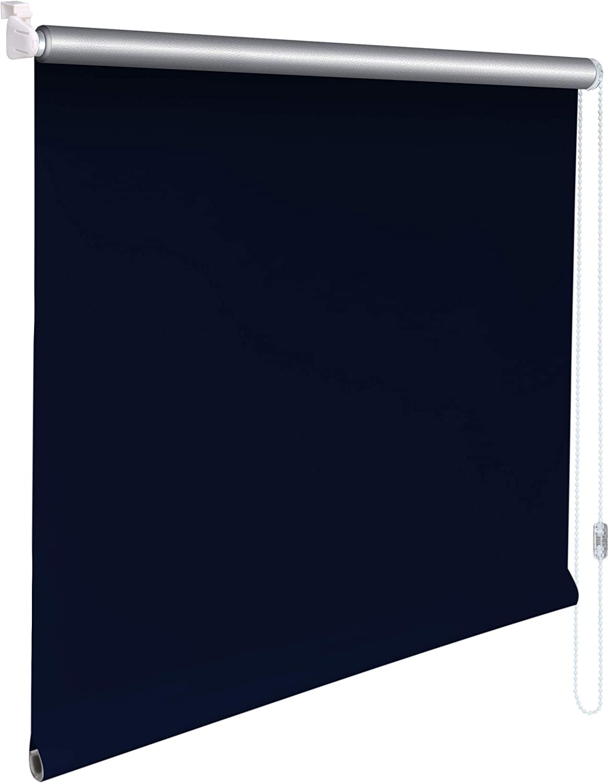 blau Mini Thermo Verdunkelungsrollo Thermorollo Minirollo Rollo KLEMMFIX Seitenzugrollo Kettenzugrollo inkl Sonnenschutz-HH/® Klemmtr/äger ohne bohren Au/ßenma/ß Breite 20 x50 cm H/öhe