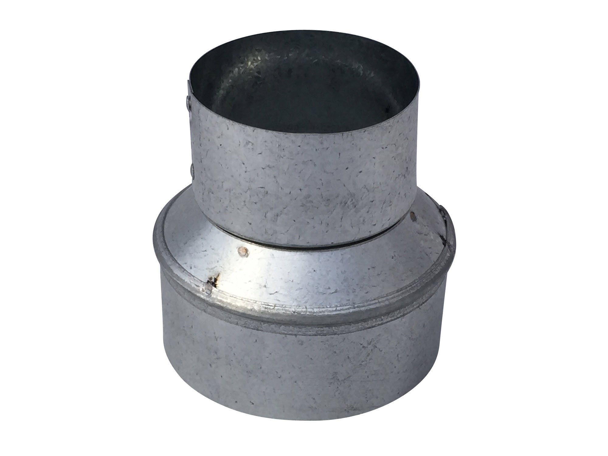 4x3 Inch Tapered Reducer Galvanized Steel - Vent Works