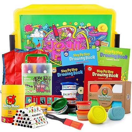 b9c57e6cd3 Amazon.com: 11-Piece Children's Washable Brush Set, Toddler Graffiti ...