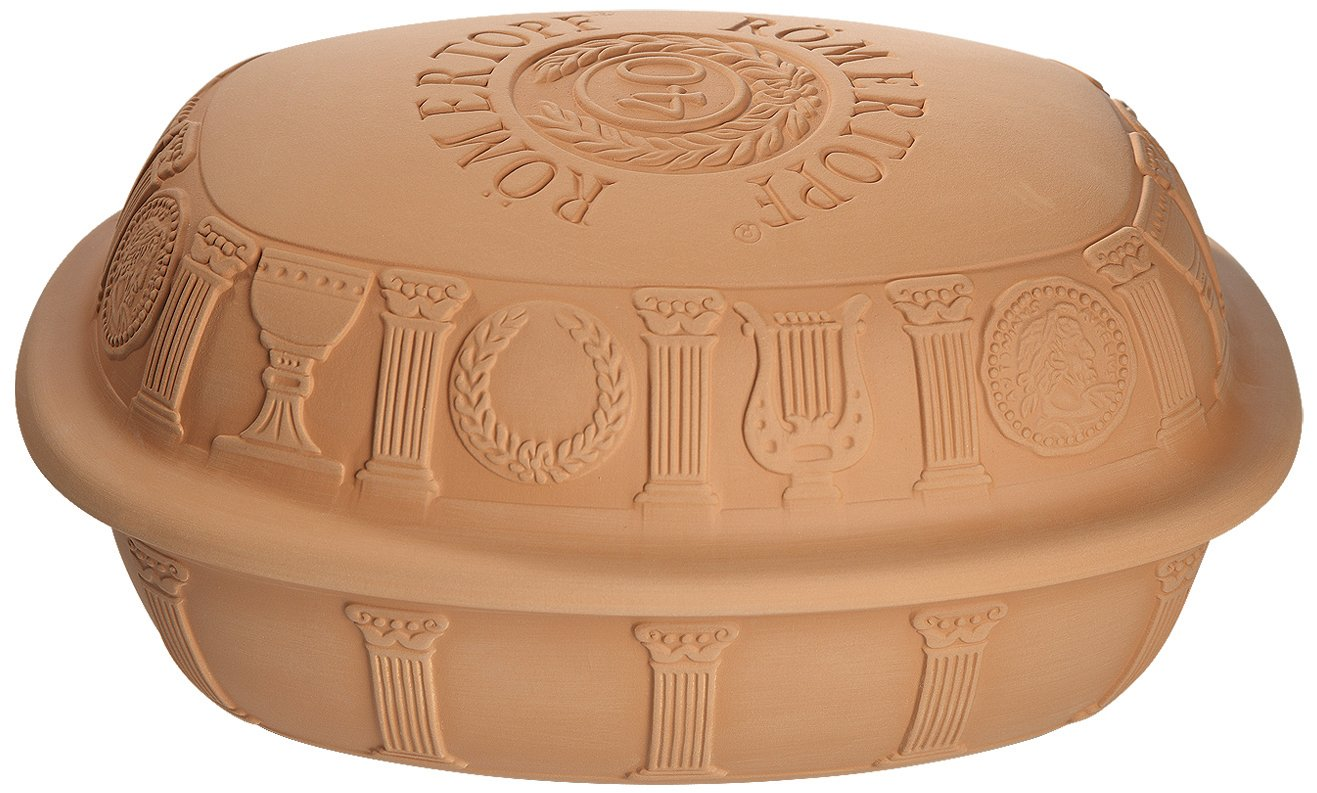 Medium Romertopf by Reston Lloyd 40th Anniversary Series Natural Glazed Clay Baker