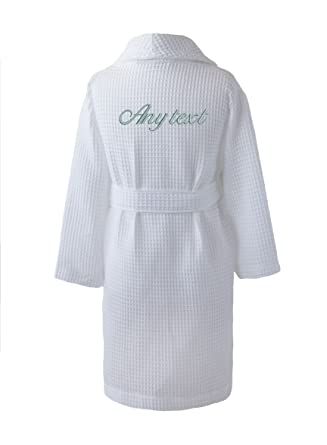 Personalised Junior / Kid\'s Waffle Dressing Gowns, 2-3 ys (Chest ...