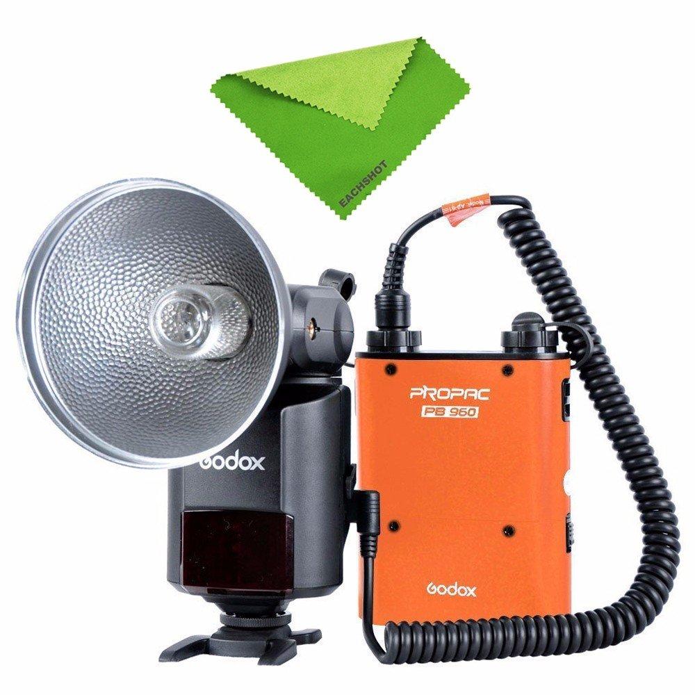 Godox ad360ii-n 360 W gn80 e-ttlフラッシュスピードライト2.4 GワイヤレスXシステム& pb960バッテリー内蔵オレンジ   B01ARC0K8M