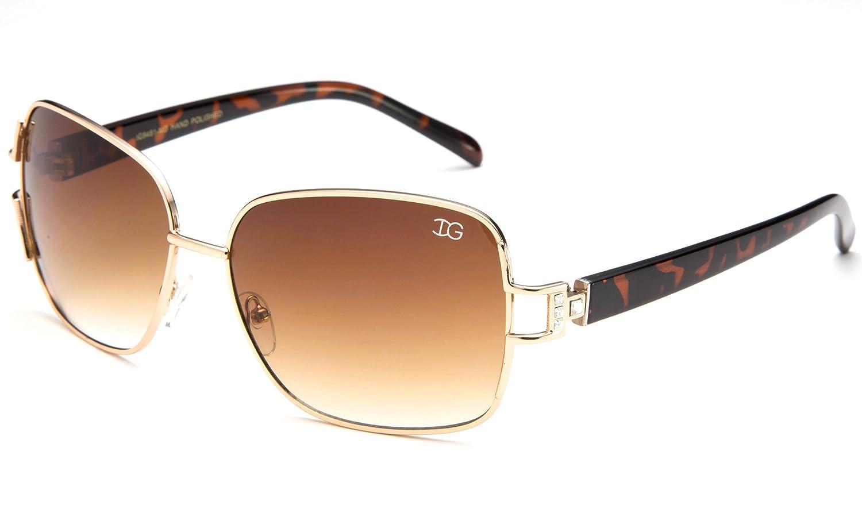 7237f8f205e4 new Newbee Fashion - Womens IG High Quality Metal Frame Rhinestones Temple  Sunglasses