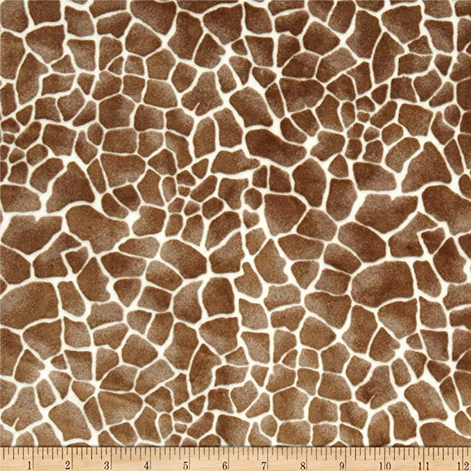 Luxury DIMPLE BABY Cuddle Soft Fabric Material IVORY GIRAFFE