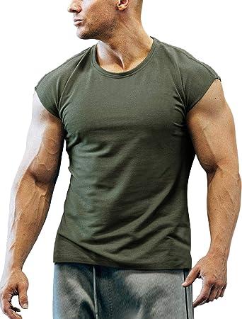 Men/'s Short Sleeve Crew Neck Gym T Shirt Summer Athletic Sportswear Tee Tops GYM