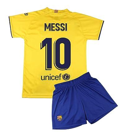 Ni/ño Talla 14 Conjunto Camiseta y pantal/ón 1/ª equipaci/ón FC Dorsal Liso Replica Oficial con Licencia Barcelona 2019-20
