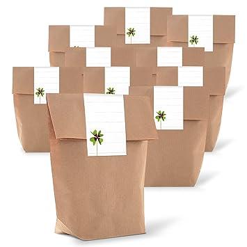 25 Kleine marrón bolsas de regalo bolsas de papel Bolsas ...
