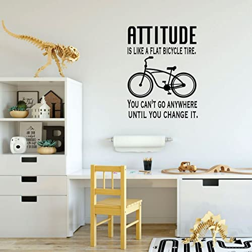 Marvelous Inspirational Wall Art   Vinyl Decal Motivational Quote: Attitude Is Like A  Flat Bicycle Tire   Teen Decor For Bedroom, Living Room, Craft Room Or  Office ...