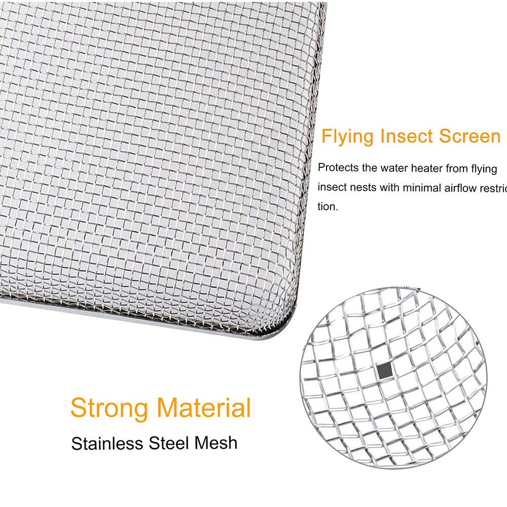 Stainless Steel Mesh with Installation Tool 6-Piece Set Wadoy RV Furnaces Screen 20 x 1-1//2 /& 2.8x1.3 /& 8.5 x 6 x 1.3