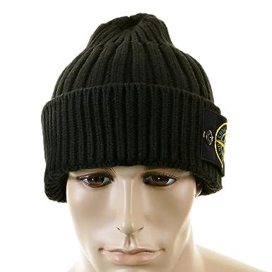 be5ade4b7600b Beanie hat Stone Island black roll beanie hat 5515N01D5 SI2757   Amazon.co.uk  Clothing