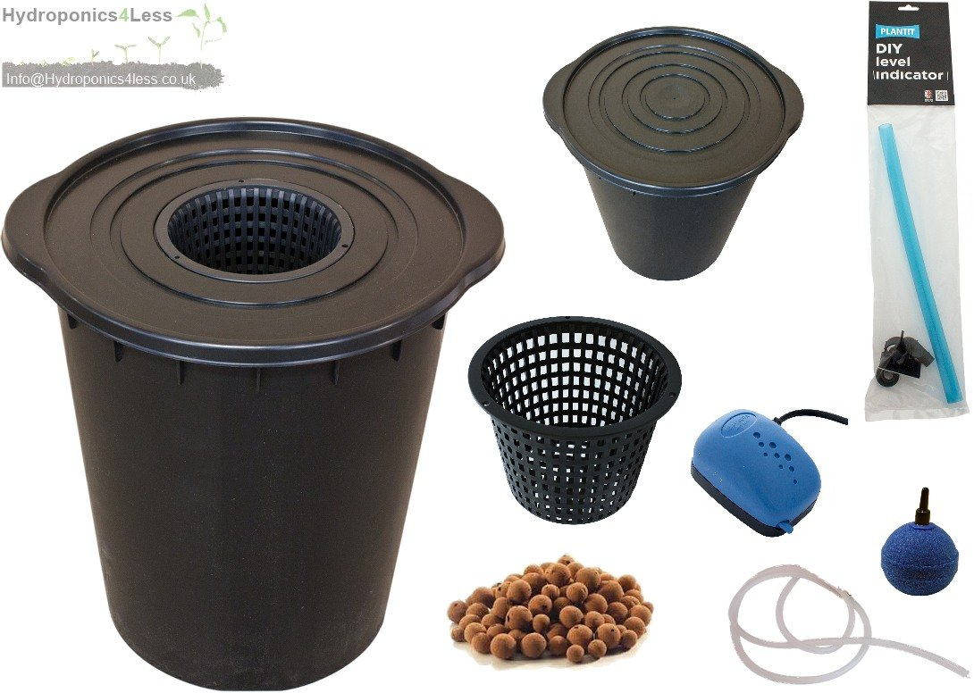 PLANTiT IWS Deep Water Culture DWC OxyPot Bubbler Hydroponic System Complete Kit (5 Litre Clay - YES) Plant!t