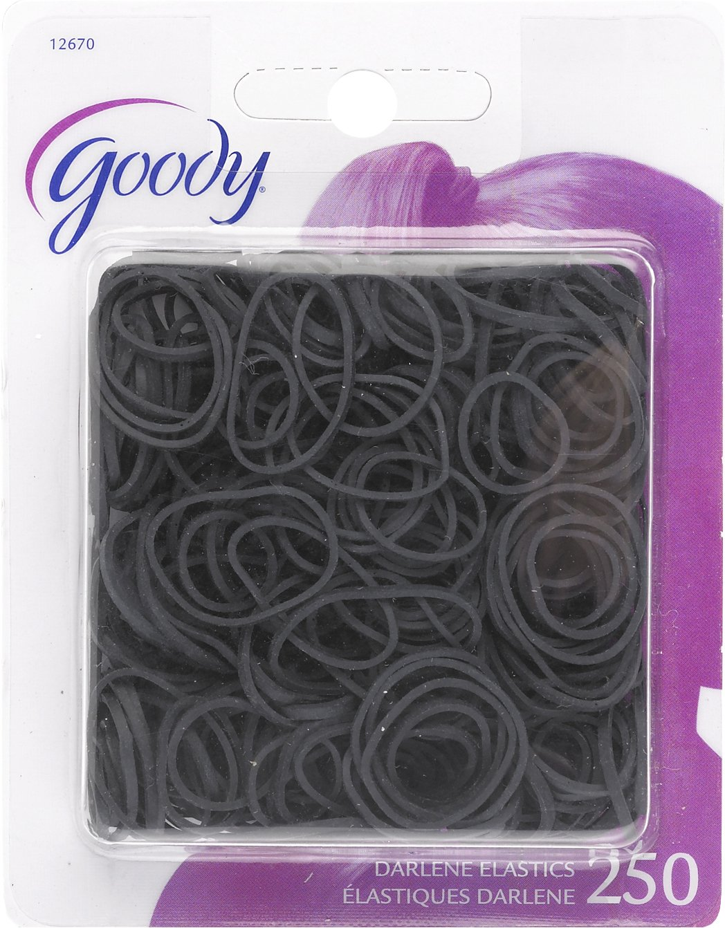 Goody Classics Rubberband, Black, 250 Count by Goody Classics 12670