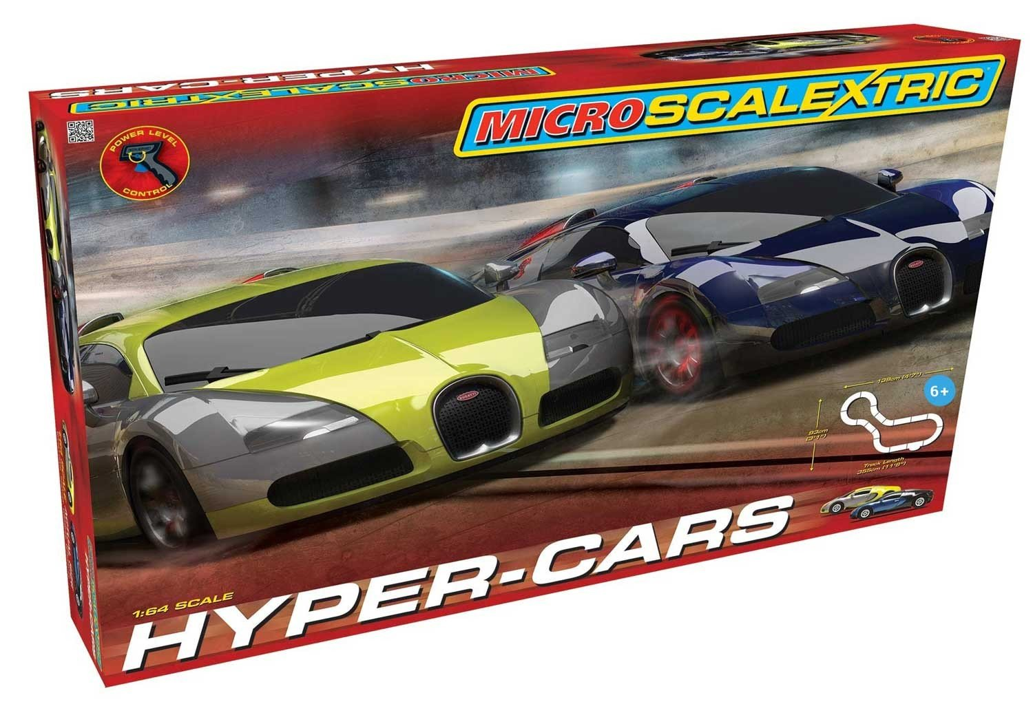 Scalextric Micro Hyper-Cars Race Slot Car Set (1: 64 Scale) by Scalextric