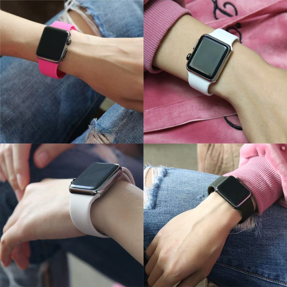 IYOU Sport Band Compatible with Watch Band 38MM 42MM 40MM 44MM, Soft Silicone Replacement Sport Strap Compatible with 2018 Watch Series 4/3/2/1 by IYOU (Image #4)
