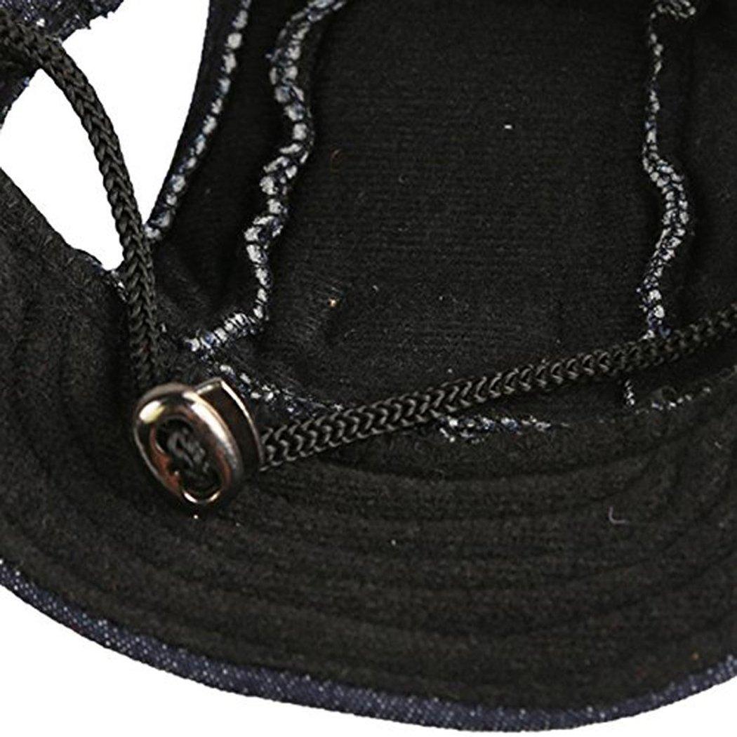 Dog Baseball Hat Leisure Cool Cotton Dog Accessory Puppy Hat(Black,S) (Black,S)
