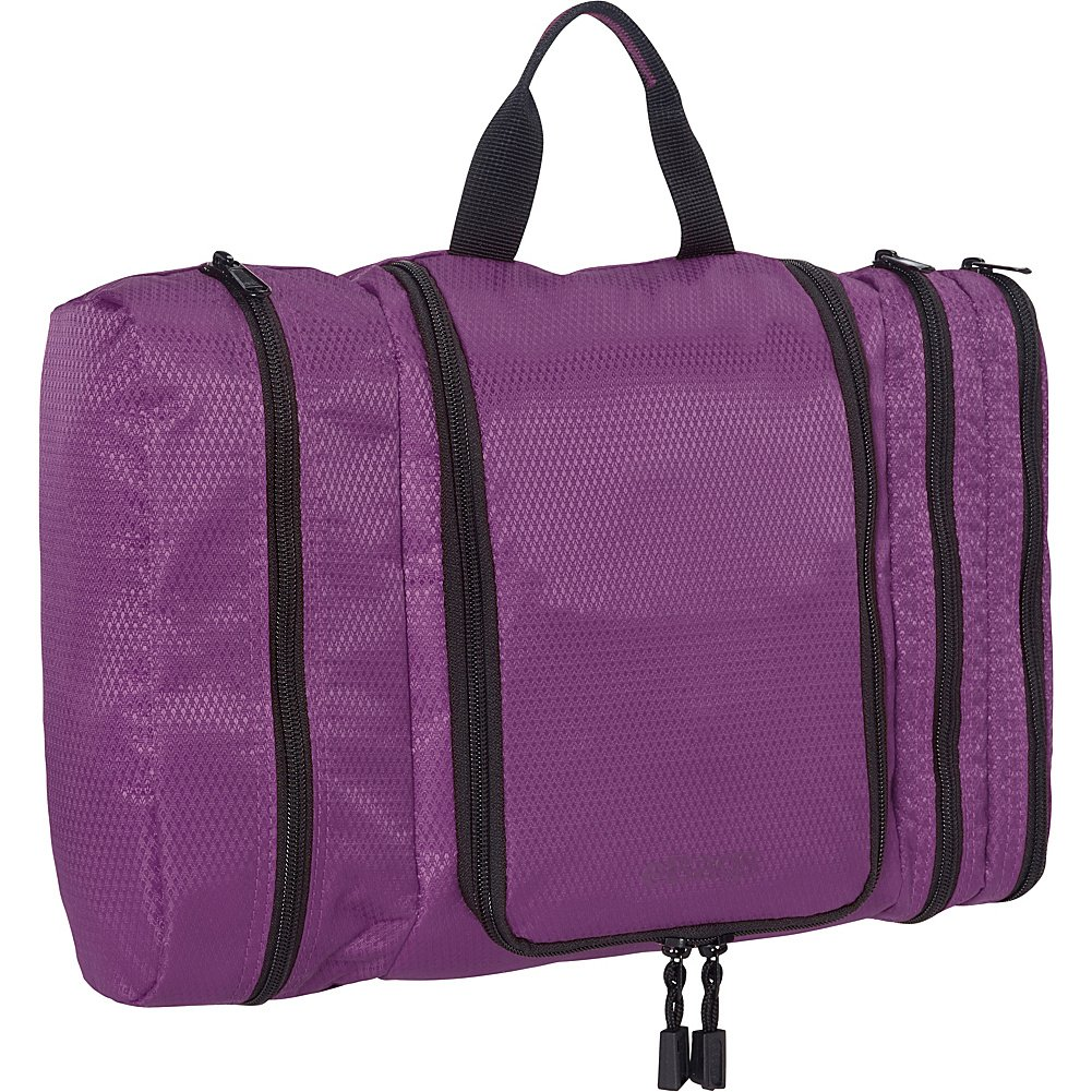 eBags Pack-it-Flat Large Hanging Toiletry Bag and Kit - (Eggplant)