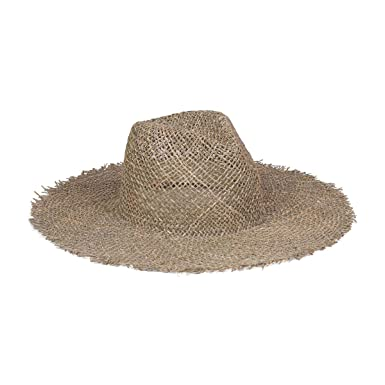 57c902c98b2a9 Lack of Color Women s Sunnydip Fray Woven Seagrass Fedora at Amazon Women s  Clothing store