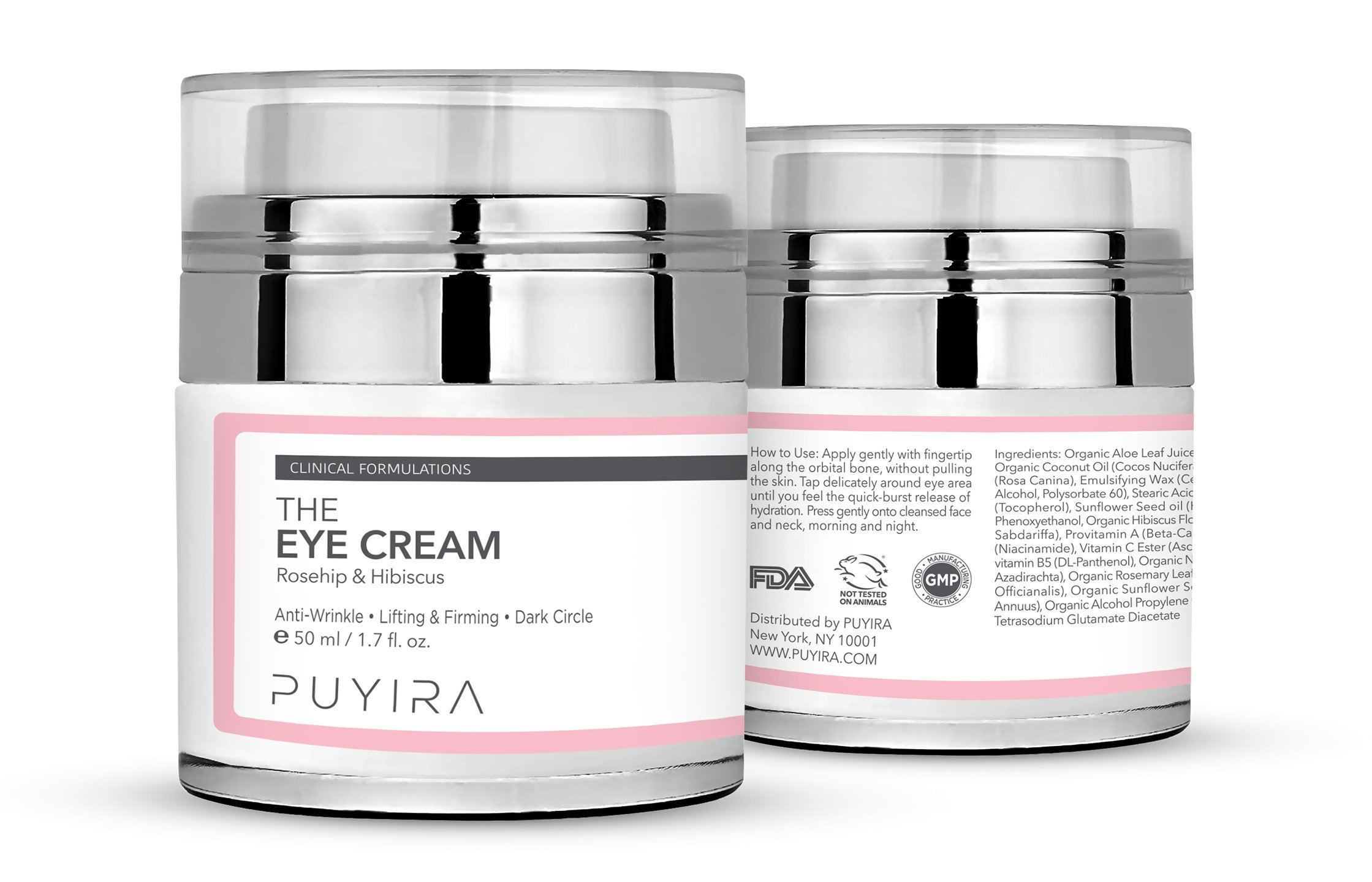 PUYIRA Rosehip Eye Cream Moisturizer , 1.7 fl.oz - Reducing Puffiness and Bags, Erasing Fine Lines and Wrinkles, Brightening Dark Circles by PUYIRA (Image #2)