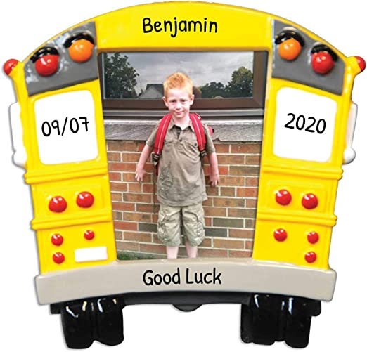 Bus Transit Christmas Day 2020 Amazon.com: Personalized School Bus Picture Frame Christmas Tree
