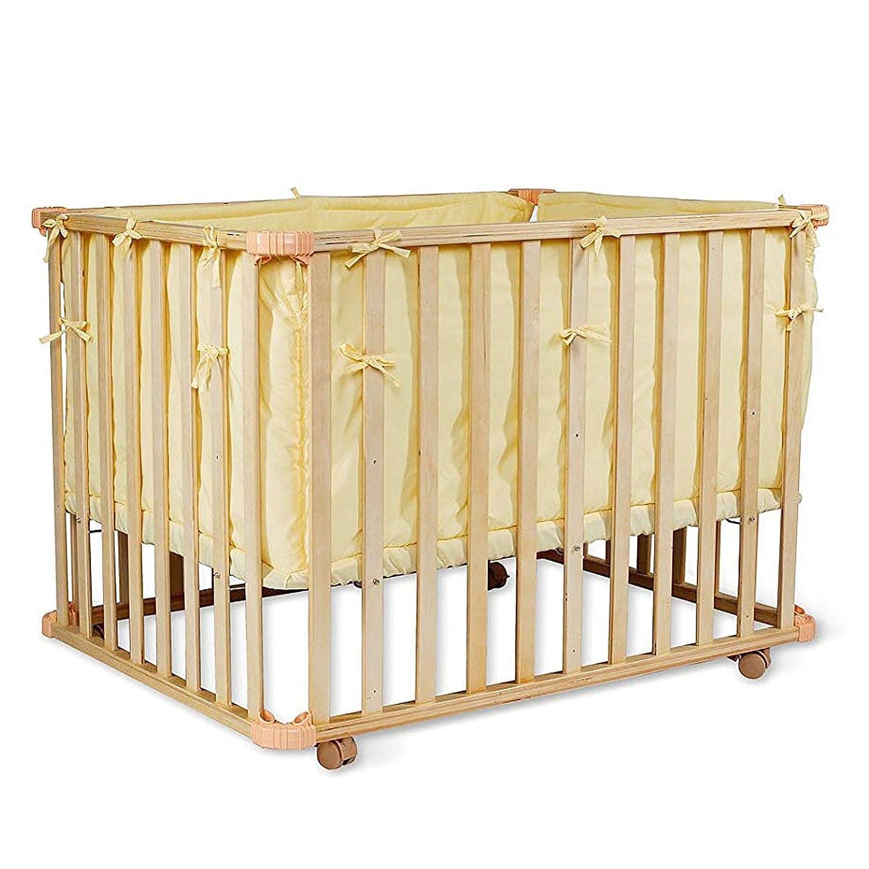 blau 3-stufig h/öhenverstellbar Babybett Holz Gitterbett dibea BB00440 Matratzenma/ß 90x60 cm