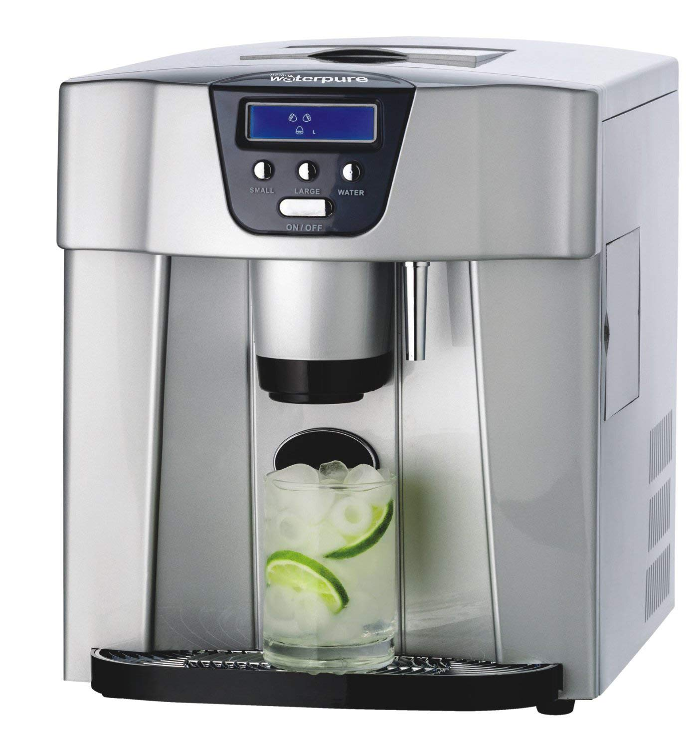 3in1 Ice Maker + Ice Cube Dispenser + Cold Water Dispenser with LED Display Make Water Pure