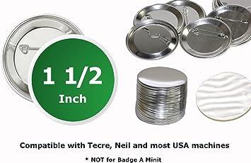 "TECRE 1/"" Pulgada Pin Insignia de piezas de máquina de botón atrás Completa Envío Gratis a EE UU."