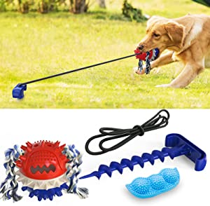 AUAYHDH Dog Toys for Aggressive chewers, 2-Piece Package, Pea-Shaped chew Toyfor Puppies, Squeaky Dog Toys, and Lawn Outdoor Sports Toys, with Teeth Cleaning and Food Distribution Functions