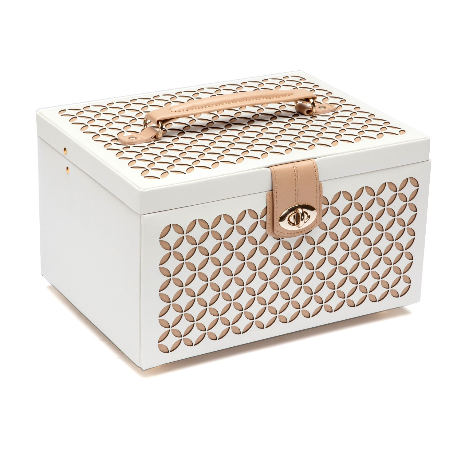 WOLF 301053 Chloe Medium Jewelry Box, Cream by WOLF